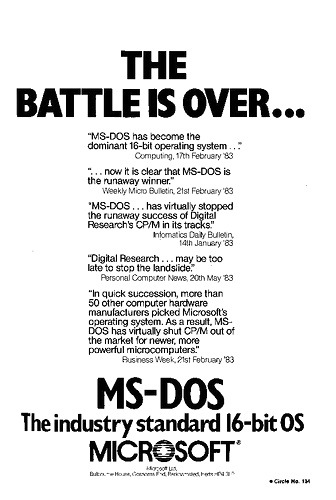 MS-DOS Emerges, courtesy RegMedia.co.uk